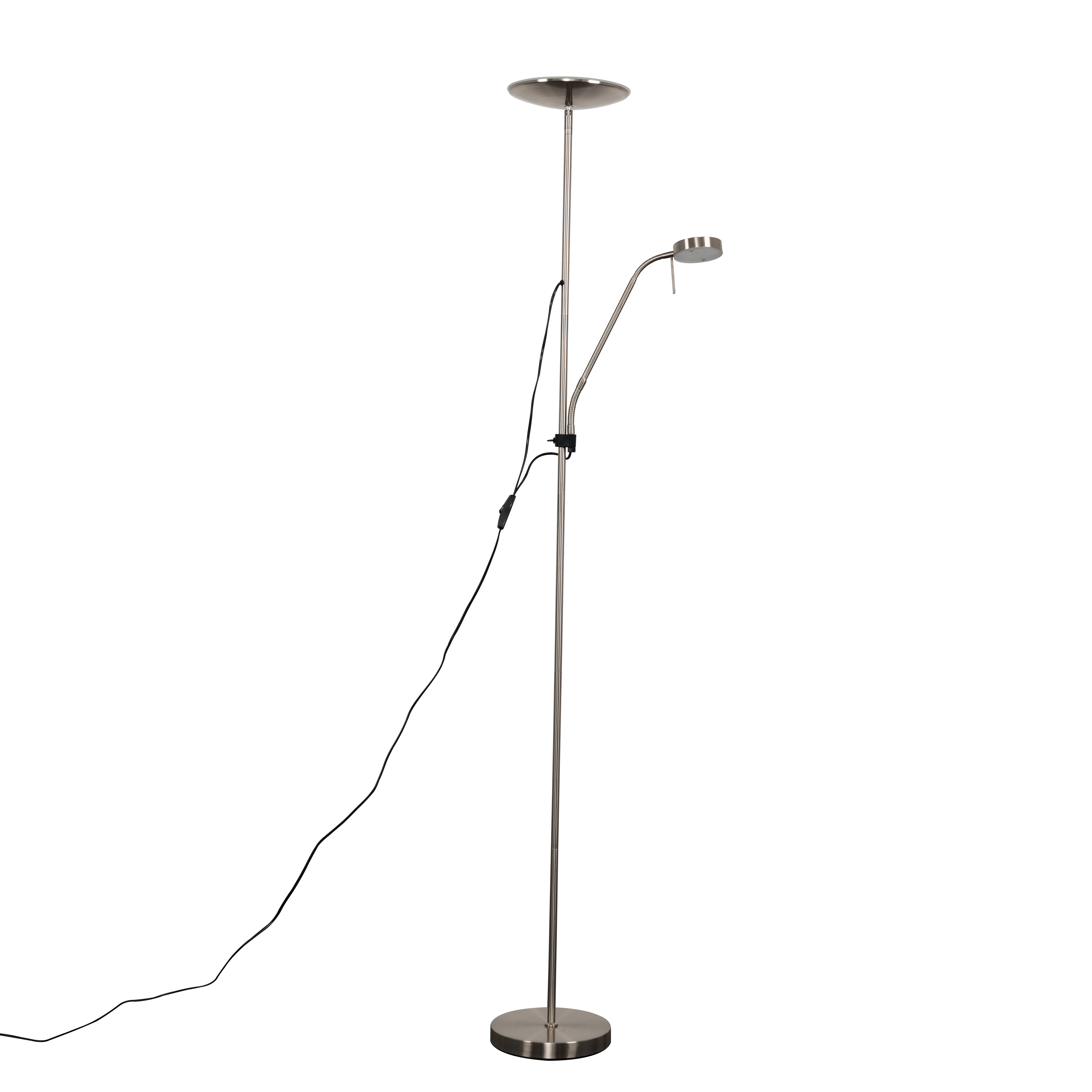 Liberty Father and Son 16W & 4W LED Satin Nickel Floor Lamp